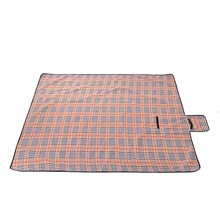 Sew Crane Multi-functional Picnic Blanket Outdoor Camping Rug Beach Mat Travel Play Mat, Tartan Color
