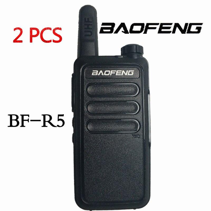 (2 PCS) BAOFENG R5 Handheld 5W Walkie Talkie Portable Radio  Profession Handheld Two Way Ham Radio Communicator HF Transceiver