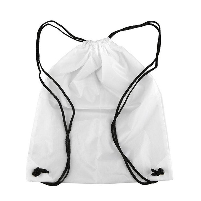 1 Pcs Portable Waterproof Oxford Sports Bag Thicken Drawstring Belt Riding Backpack Gym Drawstring Shoes Bag Clothes Backpack 1