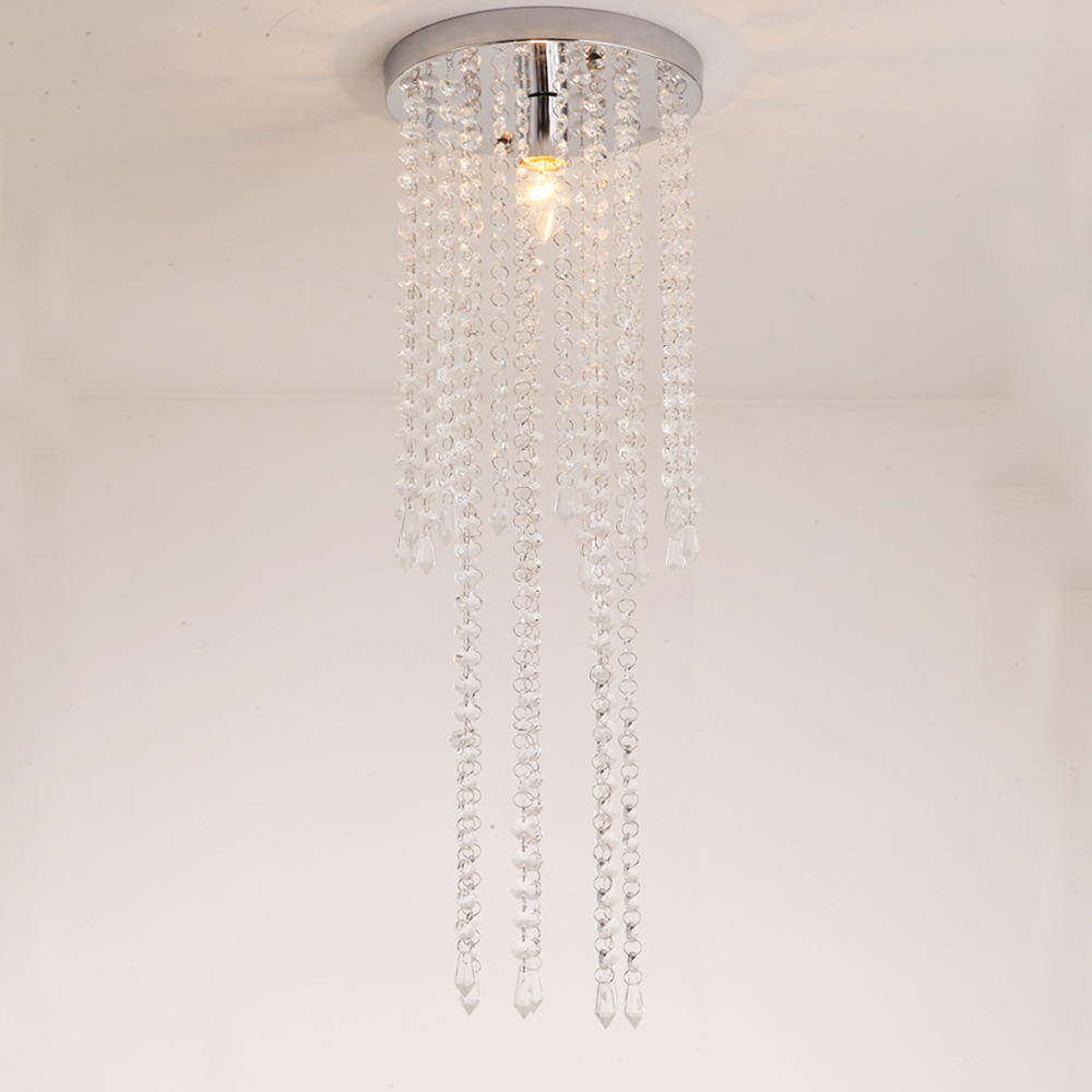Mini Modern Crystal Ceiling Light Fixture Crystal Lamp Crystal Lustre Light E14 LED for Aisle Hallway Porch Staircase WCL024 стоимость