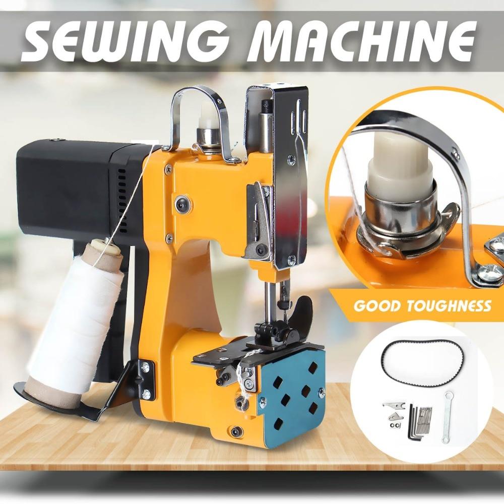 220 v/110 v máquina de costura elétrica portátil máquina de embalagem automática indústria têxtil casa tecido saco selagem GK9-890