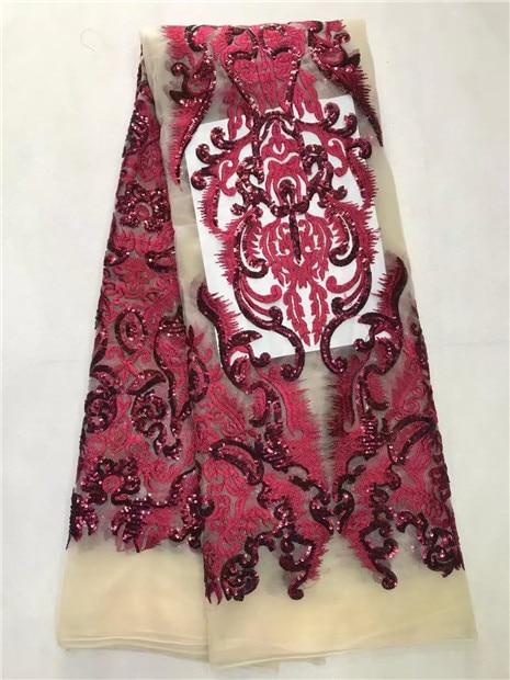 Mei 붉은 색 최신 아프리카 레이스 직물 2017 고품질 프랑스어 그물 장식 조각 자수 레이스 얇은 명주 그물 직물 결혼식-에서레이스부터 홈 & 가든 의  그룹 1