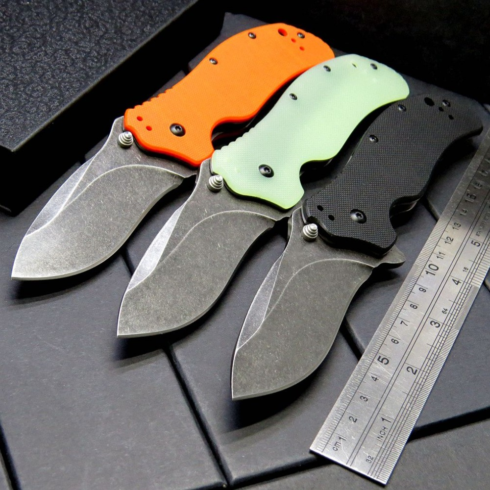 Hot Arrival ZT 0350BW Folding Blade Knife Bearing Knives Steel Blade G10 Handle Tactical Knife Camping Hunting Tool EDC Tools hot sale ontario rat model 1 aus 8 folding blade fluorescent green g10 handle edc camping climbing tactical tool