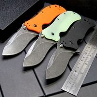 Hot Arrival ZT 0350BW Folding Blade Knife Bearing Knives Steel Blade G10 Handle Tactical Knife Camping