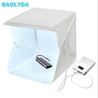 Baolyda портативный складной мини лайтбокс фотографии светодиодный свет комнаты Фотостудия Свет Палатка софтбокс фонов для цифровой Камера