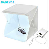 Baolyda Portable Folding Mini Lightbox Photography LED Light Room Photo Studio Light Tent Soft Box Backdrops for Digital Camera