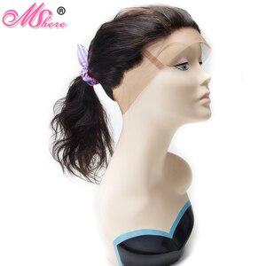 Image 3 - MSHERE 360 синтетический фронтальный с детскими волосами объемная волна человеческие волосы закрытие бразильские Remy волосы предварительно выщипывание полное кружевное фронтальное закрытие