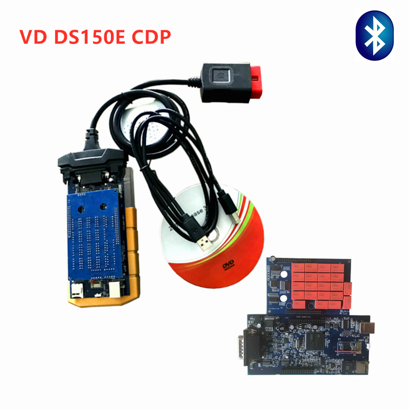 Super Quality with bluetooth New <font><b>Vd</b></font> ds150e <font><b>cdp</b></font> for delphis Scanner For Cars and Trucks auto obd obd2 diagnostic tool Free ship image