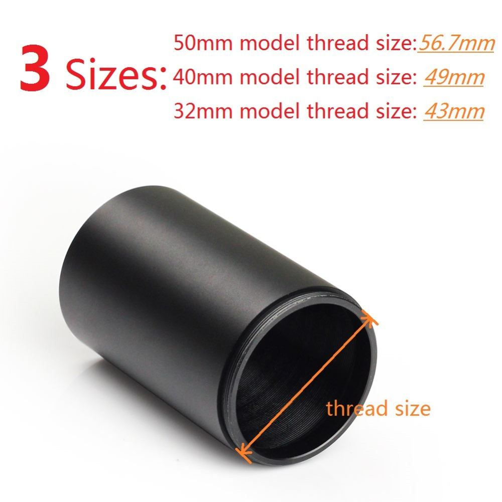 VERY100 Tactical Metal Alloy Advanced Optic Sunshade Shade Replacement For Standard Rifle Scope 50mm, 40mm, 32mm Objective Lens