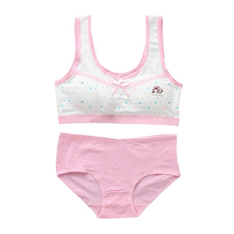 Girls' Clothing Puberty Girls Summer Cotton Underwear Seamless Training Children Soft For Girls Cartoon Bra Print Underwear Teenage