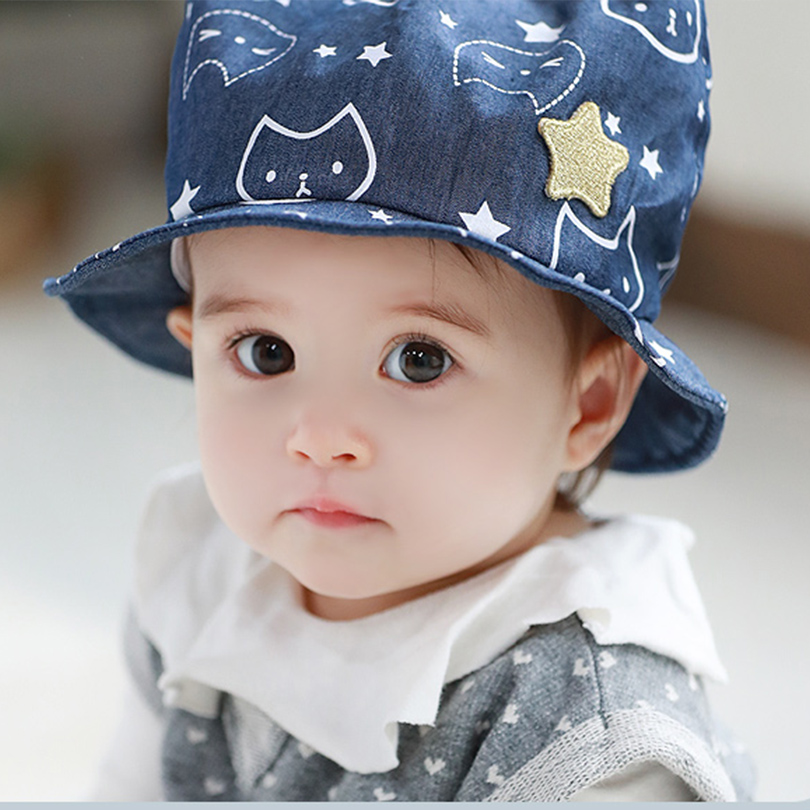 46a914b6eaef4 Tutuya baby boy and girl hat 6 - 12 months old baby bucket hats 1 - 2 years  old child sun-shading 100% cotton