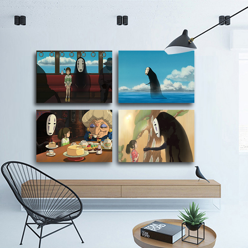 Miyazaki Hayao Anime Spirited Away Movie Posters and Prints Wall Art Scandinavian Canvas Paintings Wall Picture For Living Room image