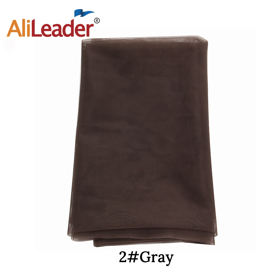 Alileader Cheap Light Brown 1/4 Yard Lace Net For Wig Making Toupee Top Closure Foundation Hairnet Accessories Weaving Tools