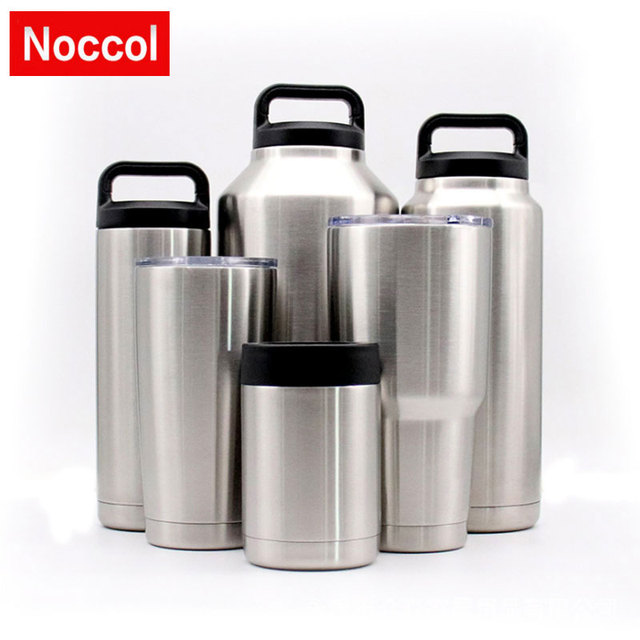 3e8c17a052c US $17.92 |Noccol 10oz to 64oz Stainless Steel Insulated Thermos Cup Double  Wall Vacuum Water Bottle Outdoor Travel Flask Mug Tumbler -in Vacuum ...