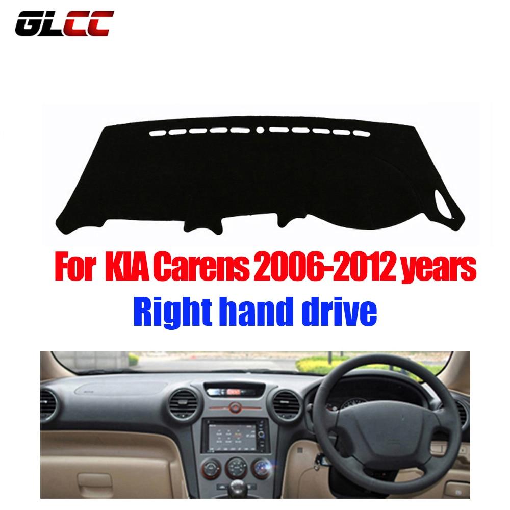 GLCC Car dashboard cover mat for KIA New Carens 2006-2012 Right hand drive dashmat pad dash covers auto dashboard accessories brand new car dashboard cover for audi tt dash cover mat right hand driver