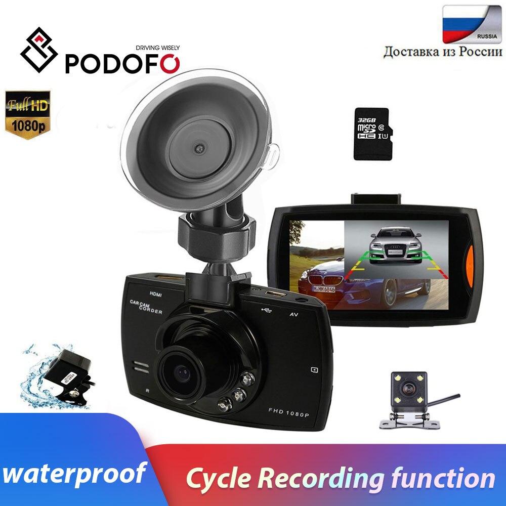 Podofo Car DVR Camcorder Recording Rear-View-Cameras Car-Dash 1080P G30 With Cam-Loop