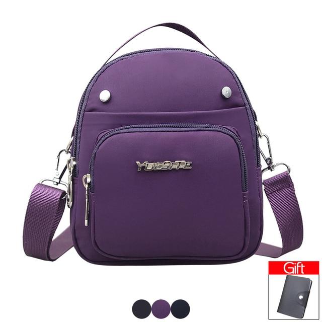 Women Nylon Small Shoulder Bag Casual Crossbody Bag for Girls Multi-layer  Daily Messenger Bag Waterproof Female Phone Bags Purse ab01af174cd35