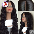 Grade 8A 4*4 Silk Top Lace Front Wigs 150 Density Body Wave Virgin Human Hair Wigs For Black Women Silk Base Wig With Baby Hair