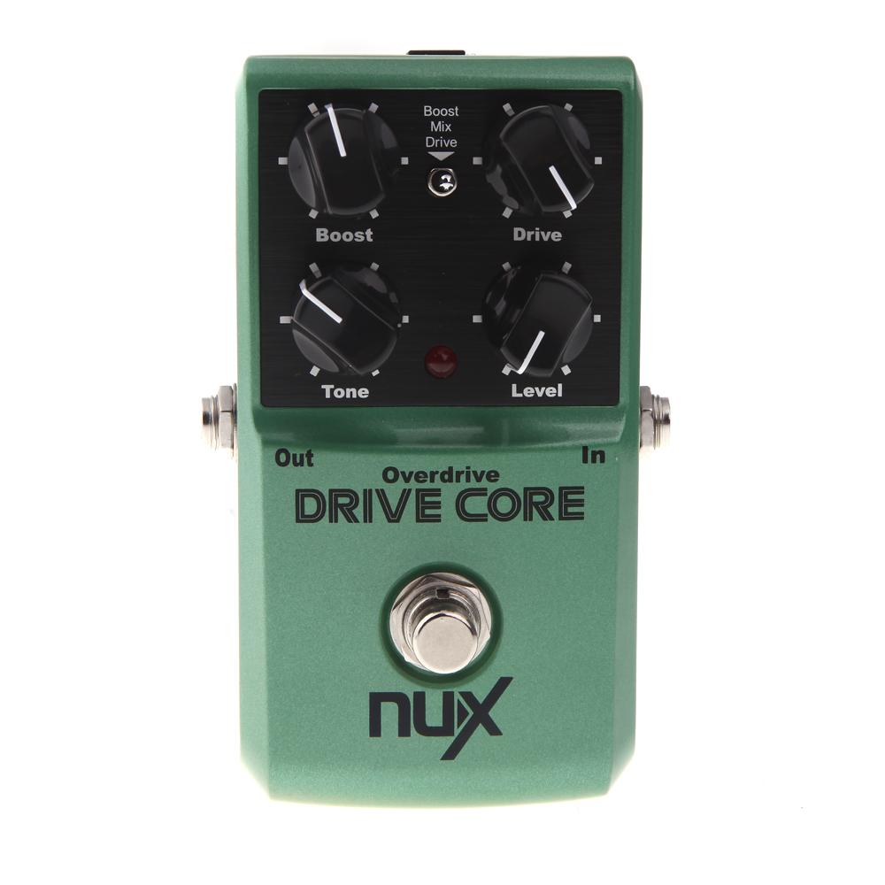 NUX Drive Core Deluxe Overdrive Booster Guitar Effect Pedal NUX True Bypass Design Aluminum Alloy Housing Pedal aroma adr 3 dumbler amp simulator guitar effect pedal mini single pedals with true bypass aluminium alloy guitar accessories