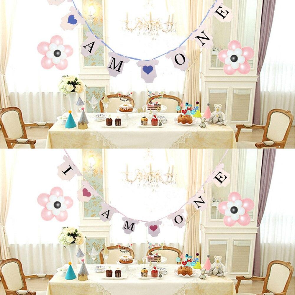 Я один письма индивидуальные висит знак для ребенка 1st День Рождения овсянка баннер для маленьких мальчиков и девочек душ День рождения нак...