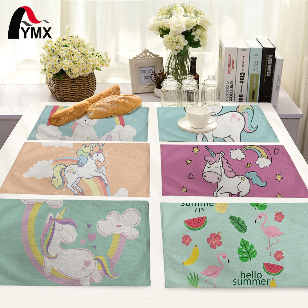 42*32cm New cartoon animal pony cotton table napkin home decor Table Napkins Wedding-cloth-napkins