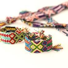 ABL0240(1), 2,8 см Широкий Ретро ручной работы Boho бразильские разноцветные стринги шнур Тканый Плетеный хиппи браслеты дружбы