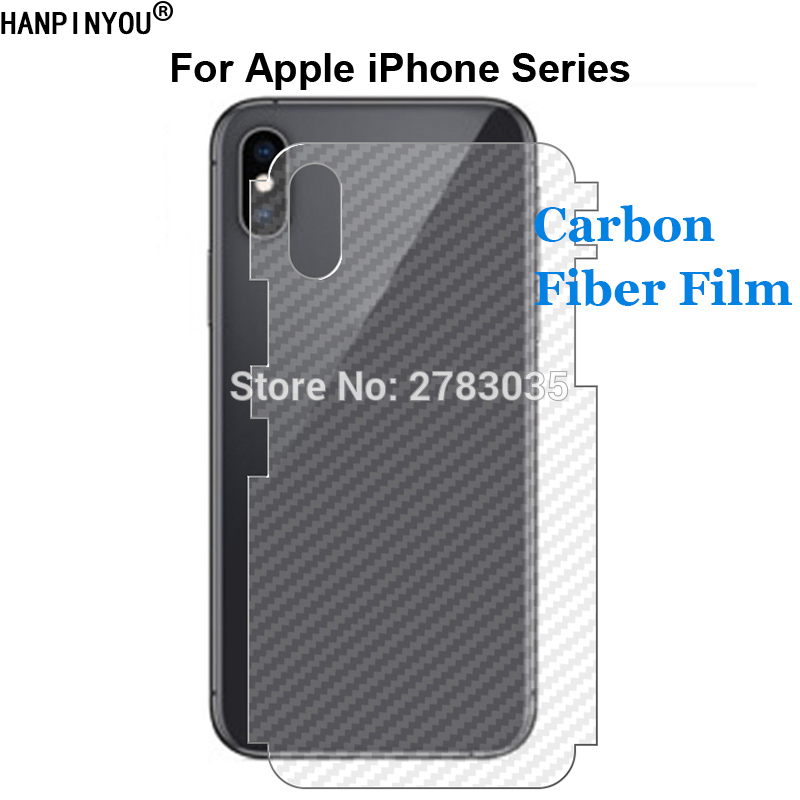 For Apple iPhone 11 Pro X Xs Max Xr 6 6s 7 8 Plus Full Cover 3D Carbon Fiber Back Side Film Screen Protector (Not Tempered Glass image