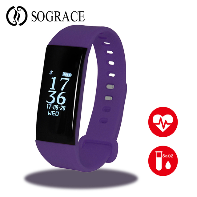 Wrist Band Smart Heart Monitor Watch Connect Android Watch French with Blood Pressure Anti-lost Fitnes Tracker for Women PK S2