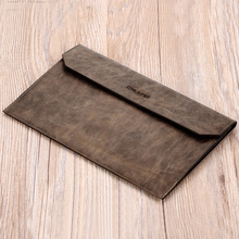 Men's first layer of leather clutch soft leather envelope bag large capacity thin section Business tide capture BB120
