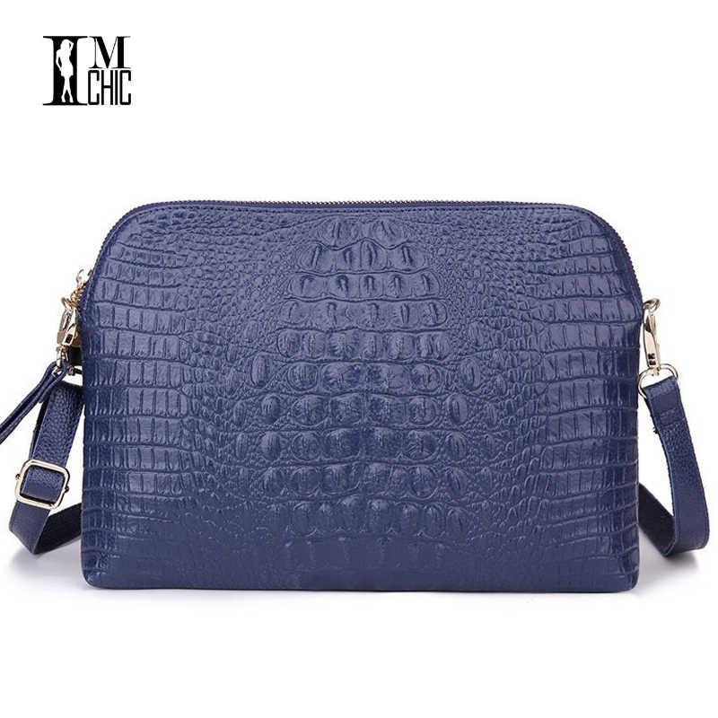 a6a5589f390e ... High Quality Split Leather Women Shoulder Bags Envelope Evening Party  Handbag Large Clutch Vintage Crocodile Lux ...