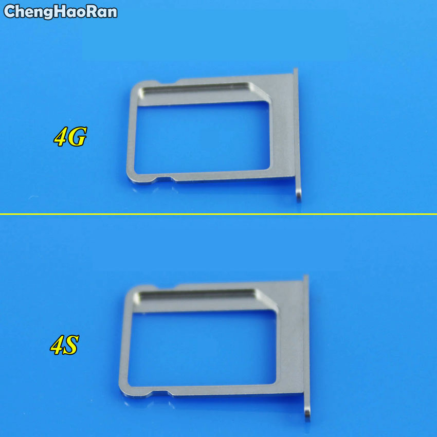 ChengHaoRan 10Pcs Micro SIM Card Tray Holder Slot Replacement for Apple for iphone 4 4G 4S 4th Wholesale