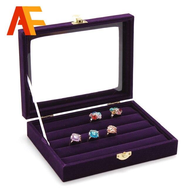 HOT SALE purple ring Jewelry box Jewelry display and storage acrylic