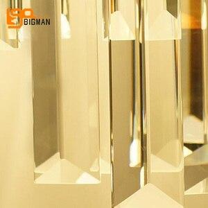 Image 5 - Lámpara de pared de cristal de lujo, luces de pared modernas, brillo de AC110V 240V, iluminación para sala de estar y dormitorio