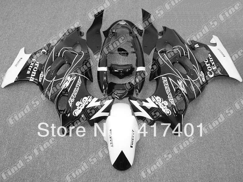black white for GSX600F 03 04 05 06 Katana 03 06 GSX750F 2003 2006 600F 750F 2003 2004 2005 2006 ABS fairing kit