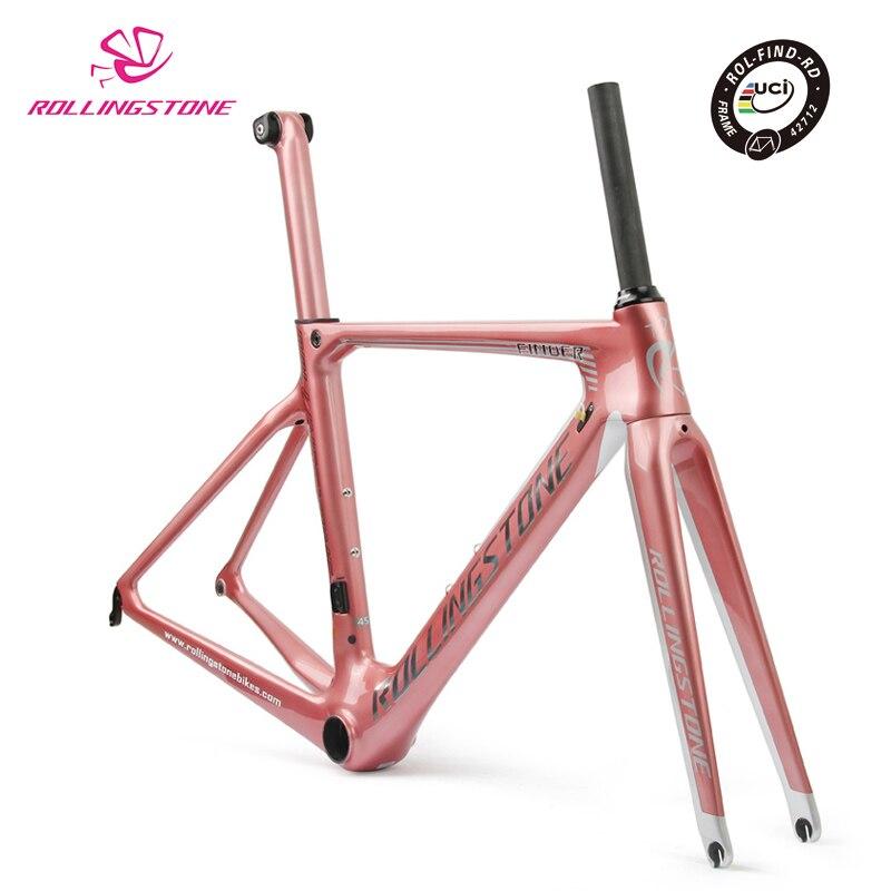 Rolling Stone  FINDERUCI Bicycle Frame Carbon Road Bike Aero Frameset 2018 700C 45cm 47CM 50CM 52cm Racing Toray T800 Ultralight