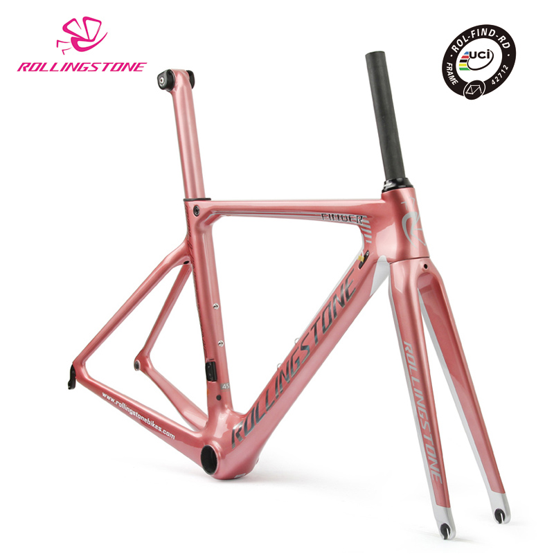 Rolling Stone UCI bicycle frame carbon road bike aero frameset 2018 700C 45cm 47CM 50CM 52cm racing toray T800 ultralight smileteam t800 aero carbon road bike frame di2
