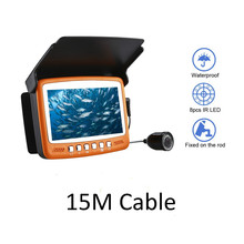 15M 1000TVL Ice Fishing Camera Underwater Fish Finder Video Cam 4.3″ LCD Color Sea Fishing Monitor Infrared LED Fishfinder