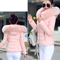 2016 Women's Parkas Thick Warm Faux Fur Collar Hooded Anorak Ladies Jacket Womens Winter Jackets And Coats Female Manteau Femme