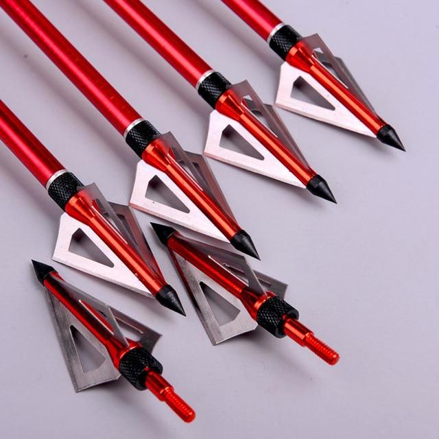 100 Grain Hunting Crossbow Arrow Broadhead with 3 Fixed Blades Used As Archery Bow And Arrow  2
