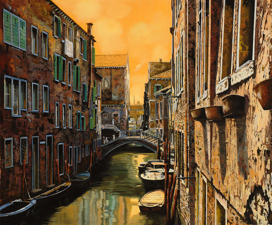 Wall art Venice At Sunset modern painting for house High quality hand painted oil painting canvasWall art Venice At Sunset modern painting for house High quality hand painted oil painting canvas