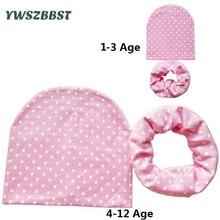 1 ~ 12 세 유아용 모자 가을 겨울 크로 셰 뜨개질 어린이 모자 스카프 소녀 소년 유아용 어린이 모자 면화 아동용 모자 모자