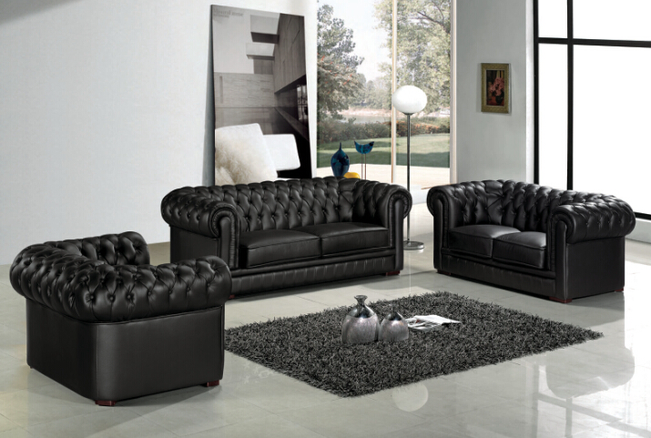 US $998.0 |Modern sofa set Leather chesterfield sofa for living room  furniture-in Living Room Sofas from Furniture on AliExpress