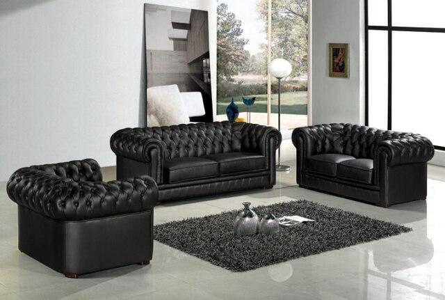 sof chesterfield de cuero para conjunto de sof s modernos