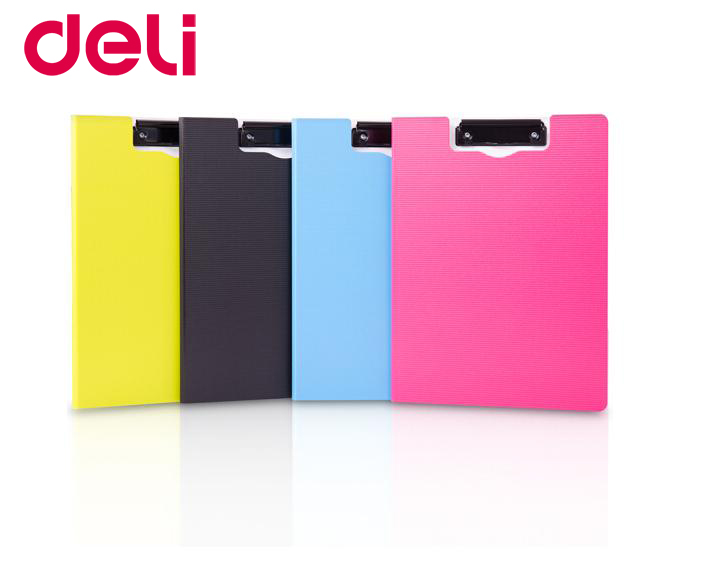 Deli A4 Colorful Fashionable Vertical/horizontal Folding Board Clip Board Horizontal Paper Folding Clip Folder Plate Clamp