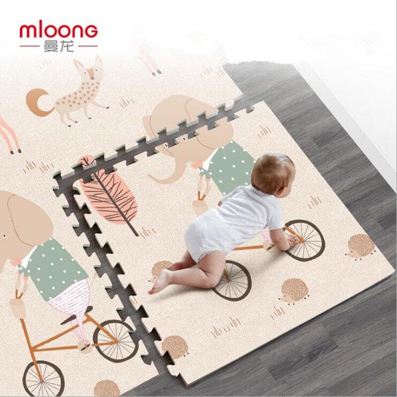 Nouveau XPE bébé ramper tapis 60*60*2 CM/6 pièces épais 2 CM bébé enfants mousse tapis jeu Pad Protection de l'environnement personnalisé de haute qualité