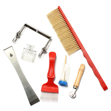 7pcs/set Beekeeping Tools Kit Set Bee Hive Box Chisel Frame Grip Queen Catcher Marker Bee Brush Apiculture Honey Tools
