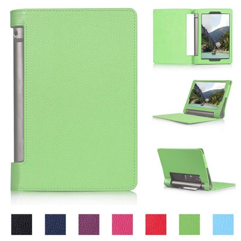 Galleria fotografica Yoga Tab3 8 YT3-850F Cover Case for Lenovo Yoga Tab 3 8.0 850F YT3-850M Flip Stand PU Leather Tablet Cover Case Capa Funda Glass