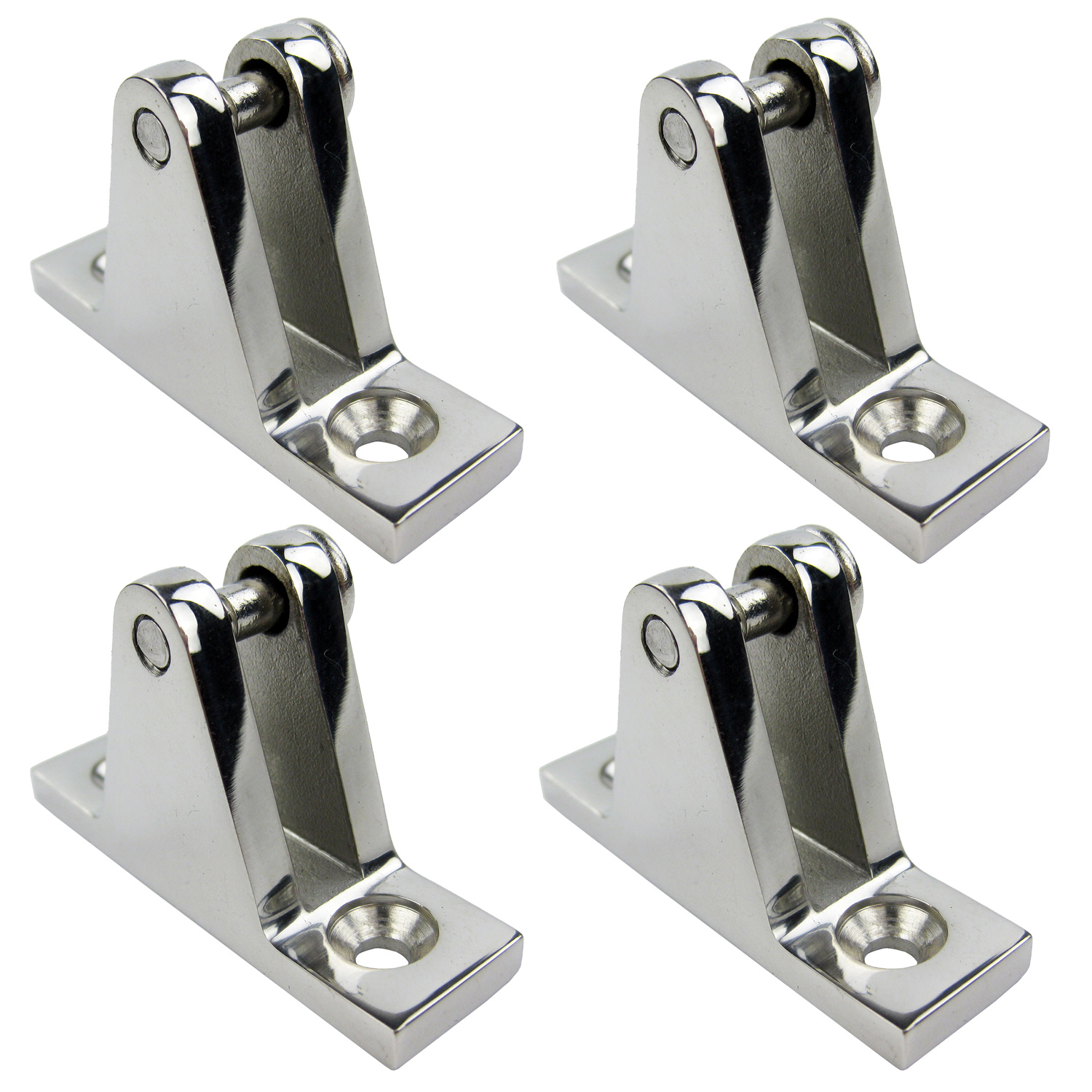 "Pack 4 Side Mount Boat Deck Hinge Bimini Top Canopy Fitting Base 2/"" x 7//8/"""