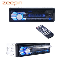 12V Car Stereo FM Radio MP3 Audio Player Support FM USB SD DVD Music CD Player AUX Mic with Remote Control radio In Dash 1 DIN