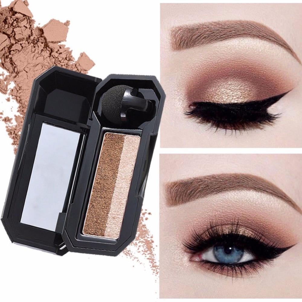 Professional Double Color Eye Shadow Cosmetics Waterproof